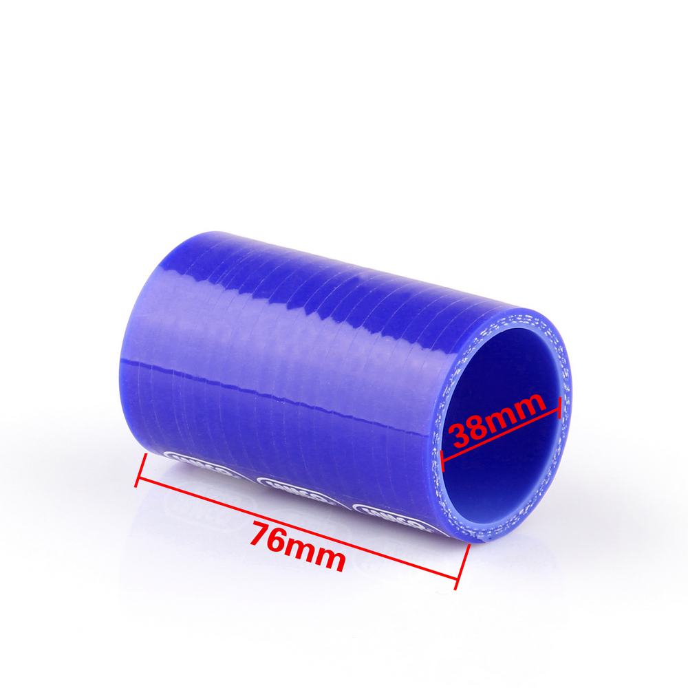 Universal Straight 0 Degree 76mm 38mm Vacuum Silicone Pipe Hose Coupler Intercooler Turbo Intake Water Air Pipe Connection Blue(China (Mainland))