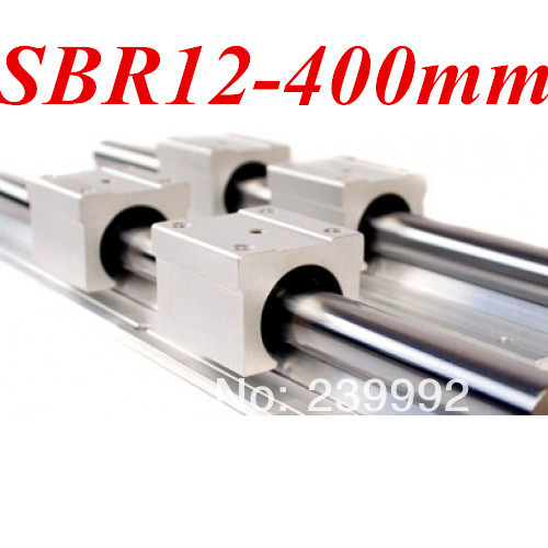 2pcs/lot SBR12 L400mm Linear Rails Round Linear Guide cnc parts(China (Mainland))