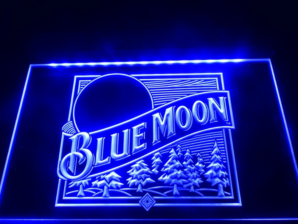 Aliexpress.com : Buy LE167 Blue Moon Beer Bar Pub Logo LED