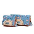Famous Brand Fashion Wallet Designer Chic Plant Print Bag Fresh Style Hollow Out Money Clip Women