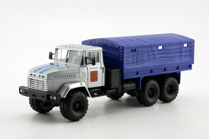 Cheap 1:43 Russian off-road military vehicles MAZ KRAZ Model Silver Alloy Truck Model(China (Mainland))