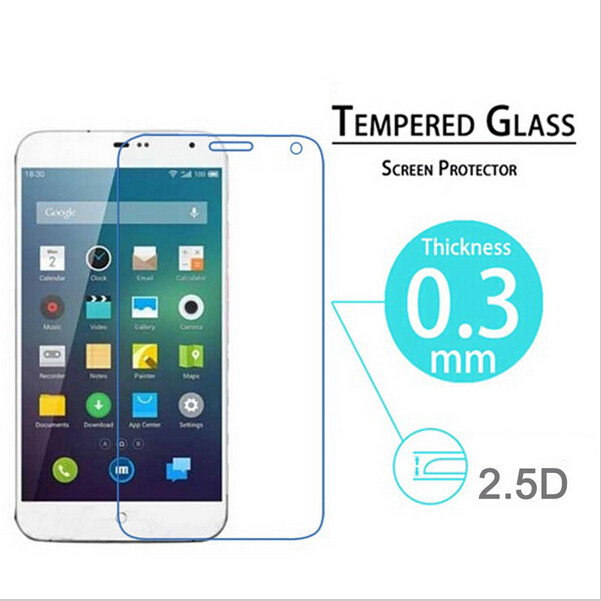 Ultra Slim Premium Tempered Glass Screen Protector For Meizu MX4 Protective Film With Retail Package PY