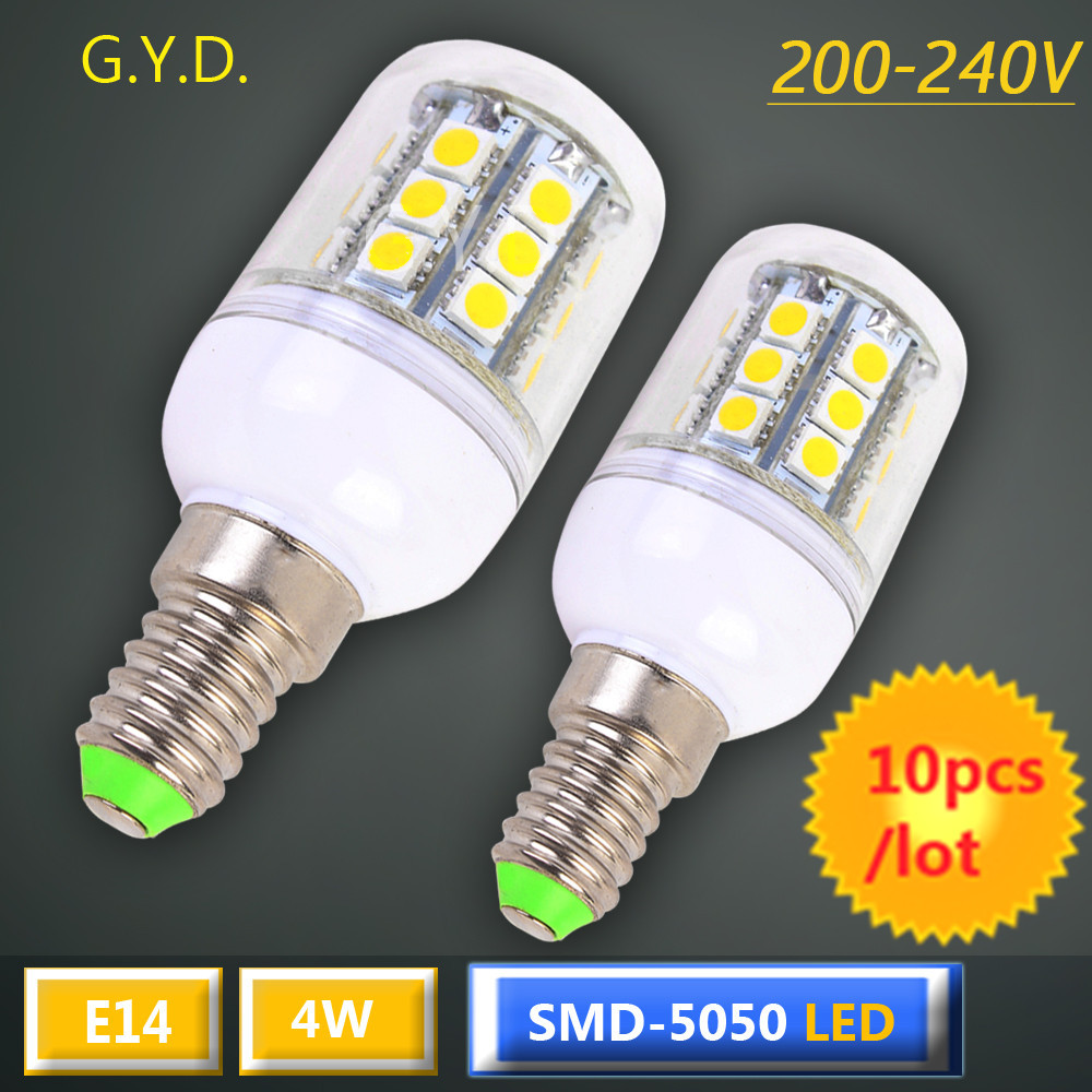 10X E14 LED Light Bulb 4W e14 led corn LED Spot Light Bulb Lamp in crystal Lighting lamp E14 LED corn Spotlight AC200-240V(China (Mainland))