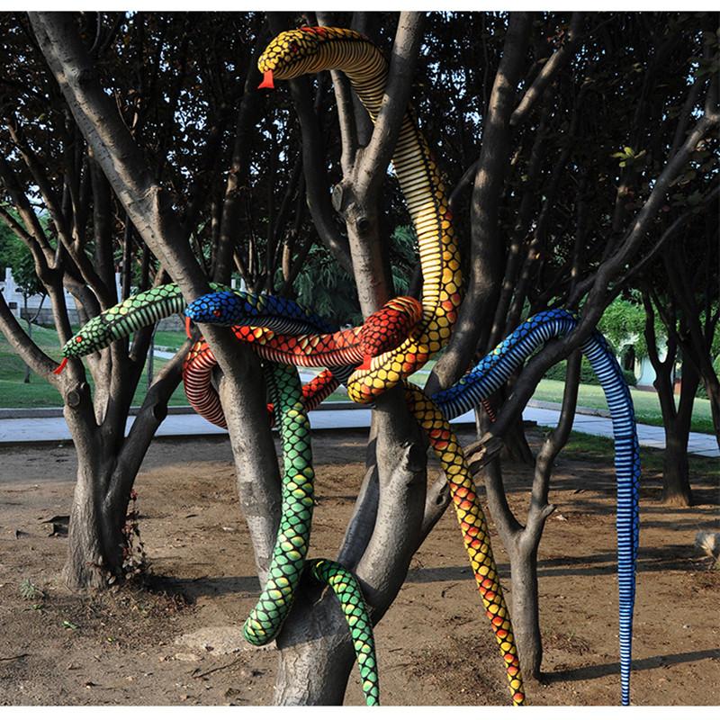 280cm Big Size Snake Plush Toy The Simulation Snake Soft Stuffed Toys Bithday Gift Wholesale and Retails Factory supply(China (Mainland))