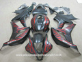 Motorcycle fairing kit for Honda injection molding CBR600RR 07 08 red flames black fairings set CBR