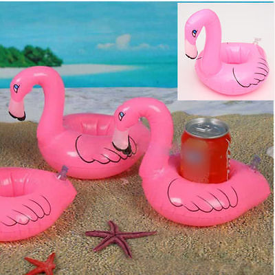 6 Flamingo Drink Holder Inflatable Swim Pool Spa Kids Float Toy Party Favor gift(China (Mainland))