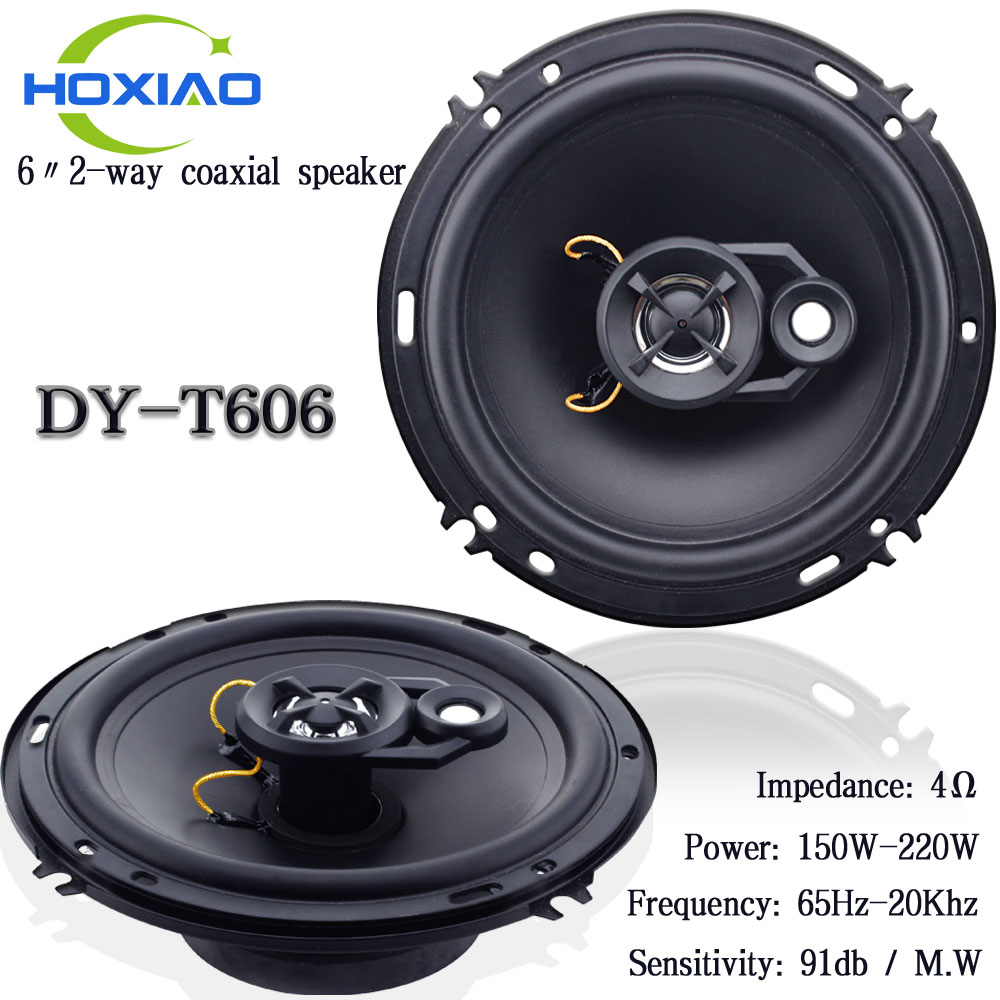6 inches 2 way car coaxial speakers Car horns T606 Special modified car stereo speakers free shipping(China (Mainland))