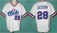 Viva Villa Stitched Mens #29 BO JACKSON Baseball Jersey #28 Bo Jackson Chicks Moive jerseys White S-3XL Free Shipping(China)