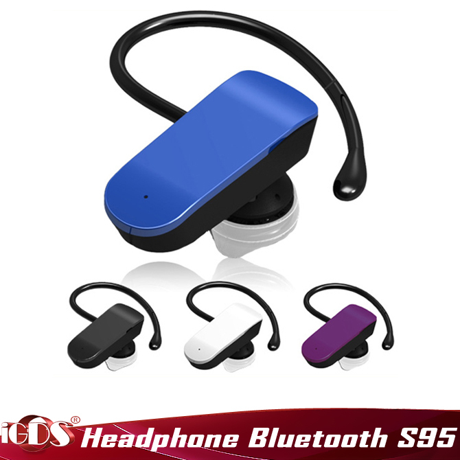 S96 single track intelligent voice to wireless bluetooth car earphone speaker music headphone for All Phone