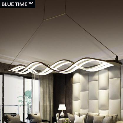 Wave design Chandelier for dinning room Black White chandelier lights modern chandelier led lighting AC 85-260V 100CM 120CM(China (Mainland))