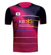 2016 New KOREA Men's / Woman badminton shirt , sports Badminton shirt , Lee Yong Dae Jerseys , badminton sportswear clothes