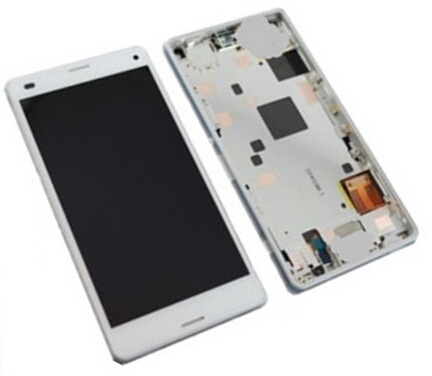 1000% Original Sony Xperia Z3 mini Compact D5803 D5833 LCD Screen Display+Touch Digitizer assembly frame white