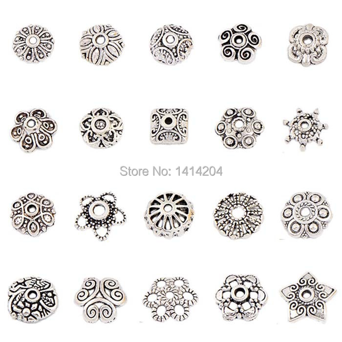 Buy 100pcs cap beads flower torus antique for Jewelry making supply store
