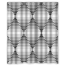 Black and white chequered custom Shower Curtain Bathroom decor fashion design Free Shipping 36×72″ 48×72″ 60×72″ 66×72″