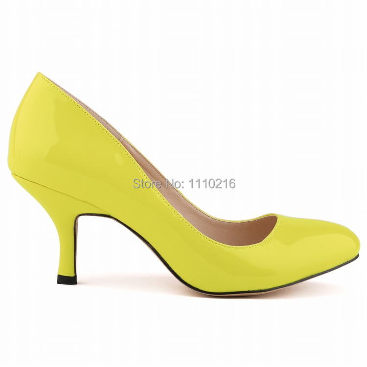 new fashion low heels pumps casual ladies thin heel single shoes women's shallow mouth classic patent leather party shoes summer