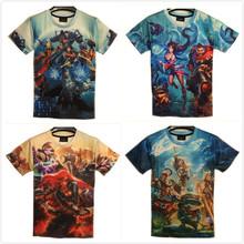 2015ฮ่าๆเสื้อยืดแขนสั้นผู้ชายO-คอเกมวีรบุรุษพิมพ์เสื้อยืดเสื้อผู้ชายร้อนแฟชั่นสบายๆเสื้อยืดcamisa masculina dota2(China (Mainland))