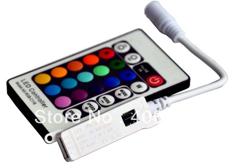 IR Wireless Controller,IR mini RGB LED Controller,IR RGB Controller,DC12V input(China (Mainland))