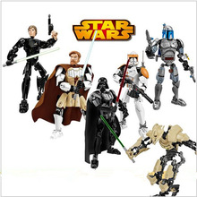 2016 New KSZ Star Wars Minifigures Darth Vader General Grievous Clone Commander Cody font b Figure