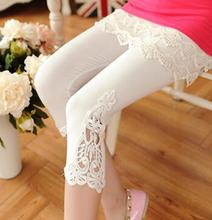 S- 7XL plus size leggings women sport leggings lace decoration white leggings size 7XL 6XL 5xl 4xl 3xl xxl xl L M S custom made(China (Mainland))