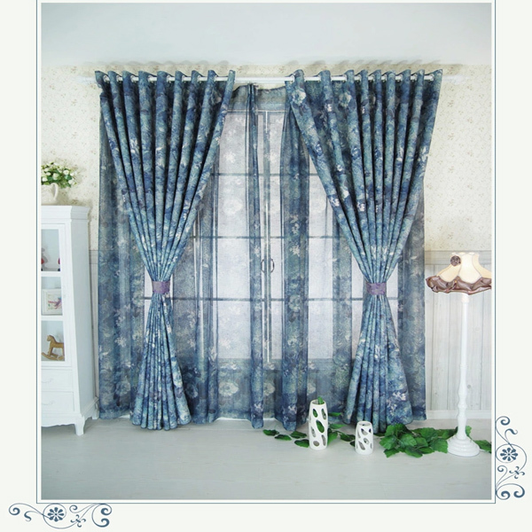 Korean American Country Style Cheap Garden Curtain Fabric For Living