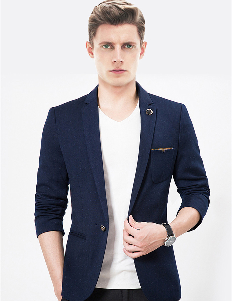 Buy 2015 New Arrival Brand Casual Blazer Men Fashion Slim Fit Jacket Suits