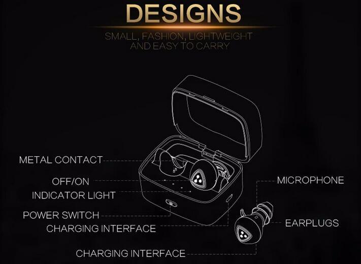 In stock! 100% original Syllable D900S Bluetooth Stereo Earphone Wireless Music Headphone Handsfree Mini Earbud headset black