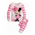 Girls Pajamas 95 Cotton Cartoon Suit Kids Children Clothing Set 2 Pcs Long Sleeve Sleep Night