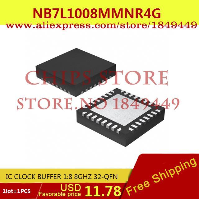 Free Shipping Diy Kit Electronic Production NB7L1008MMNR4G IC CLOCK BUFFER 1:8 8GHZ 32-QFN 7L1008 NB7L1008 1PCS(China (Mainland))