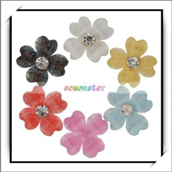 Free Shipping,Four Leaf clover Drill Nail Art Decorate,100% manufacturer compatible,10pcs/lot-10004398