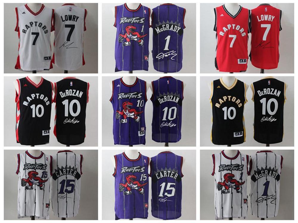 Top A Best quality 2016 Toronto Raptors,big signature,Kyle Lowry,Demar DeRozan,Vince Carter,tracy mcgrady for mens(China (Mainland))