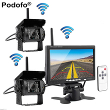 """Built-in Wireless Dual IR Night Vision Rear View Back up Cameras System + 7""""  HD Monitor for RV Truck Trailer Bus(China (Mainland))"""