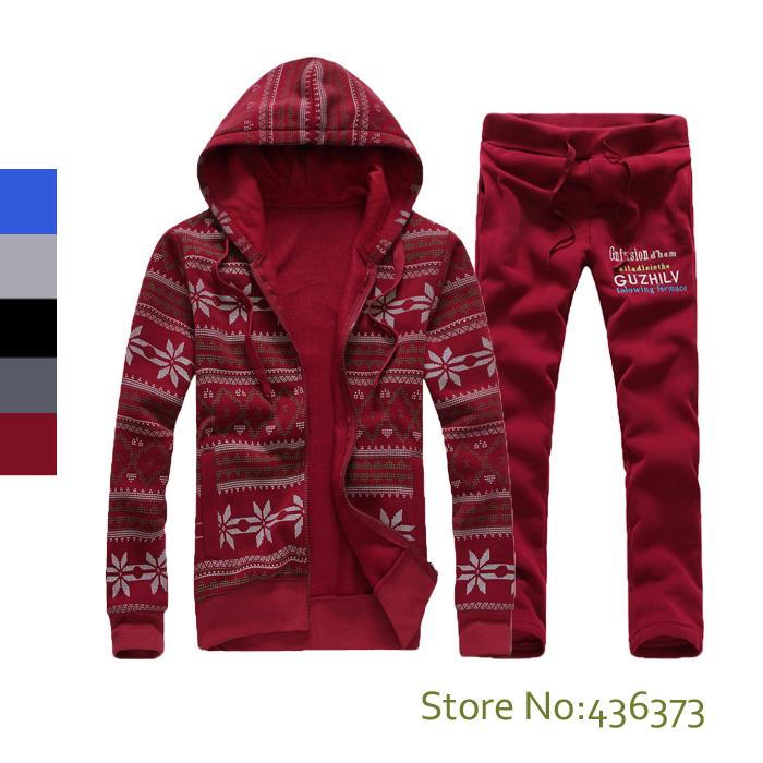 Sweatshirt pants sets 5 colors mens christmas couple hoodies
