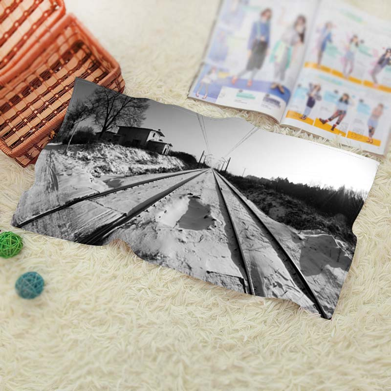 Railway Lines Vintage High Quality Washcloth Swimwear Shower Best Gift 1 Face Towel(China (Mainland))