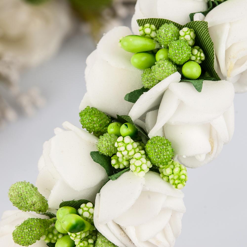 Flower Garland Floral Bride Headband Hairband Wedding Party Prom Festival Decor Princess Floral Wreath Headpiece 55