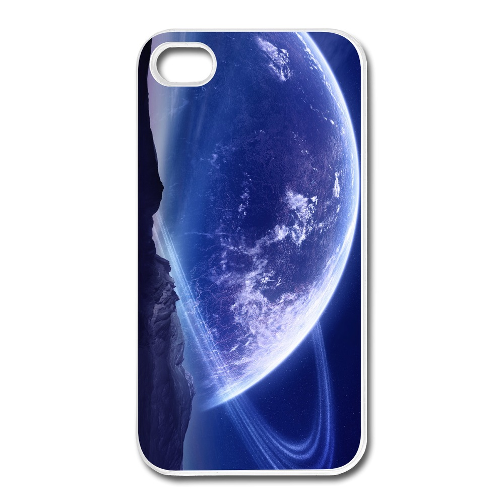 Geek Design Cover For Iphone 4 4s Planet Closer Look Design Own 4s Covers High Quality(China (Mainland))