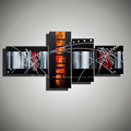 4 piece canvas wall art decorative picture modern abstract acrylic painting black red on canvas for