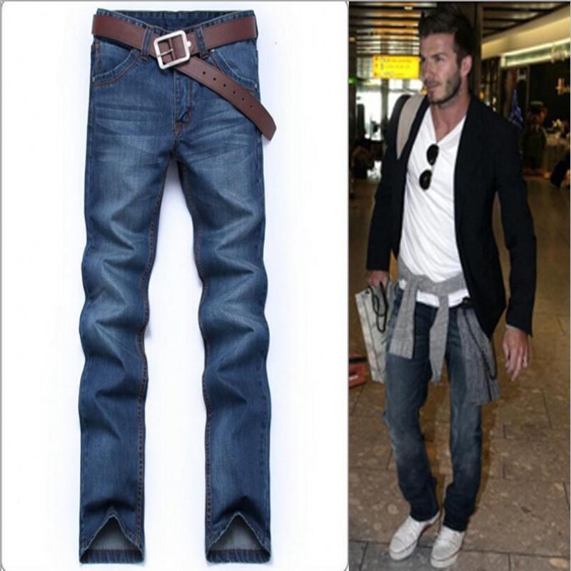 2016 Fashion New Arrival Hot Sale Designer Straight Famous Brand Denim Jeans Men,Retail & Wholesale Cotton Pants,2045(China (Mainland))