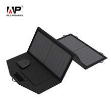 ALLPOWERS 18V 5V 21W Foldable Portable Solar Panel Charger Dual Output Wild Solar Charger For Phones Tablets Laptops 12V Battery(China (Mainland))