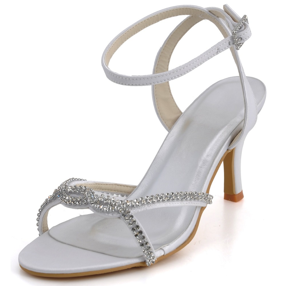 summer sandals ep2056 ivory open toe us 5 satin