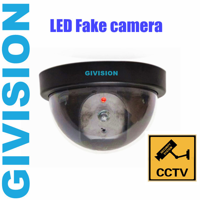 2015 new Fake Surveillance Dummy CCTV Security Dome Camera decoy indoor outdoor Flashing Red LED Light fake CAM<br><br>Aliexpress