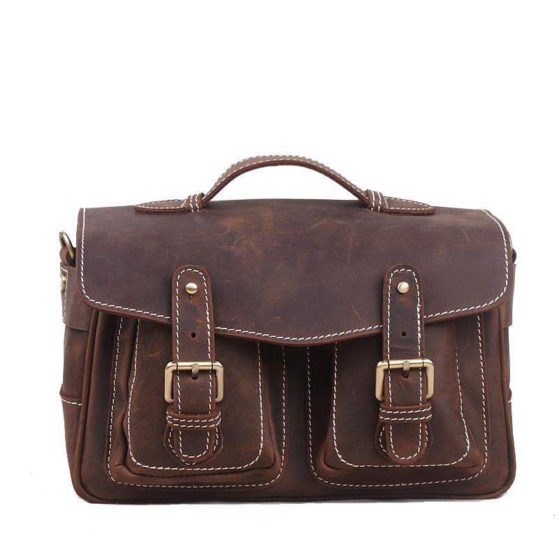 100% Genuine leather men bags men travel bags tote laptop bag hot sale man bag Manual SLR camera bag single shoulder bag handbag<br><br>Aliexpress