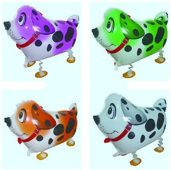 Free Shipping 50pcs/lot wholesales Dalmatian mylar balloon ,walking pet balloon , 50X42cm ,4 color for choose