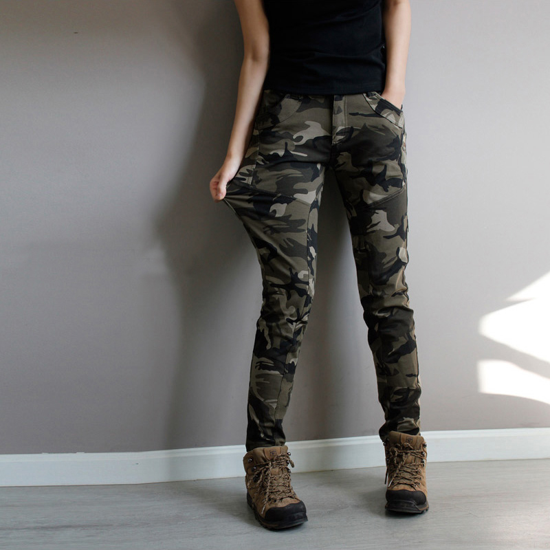 Beautiful Fashion Women Military Army Green Cargo Pocket Pants Leisure Trousers