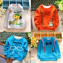 2015 new spring&autumn baby boy shirt cotton long-sleeve t-shirts cartoon kids t-shirt 0-2 year sport baby casual t shirt(China (Mainland))