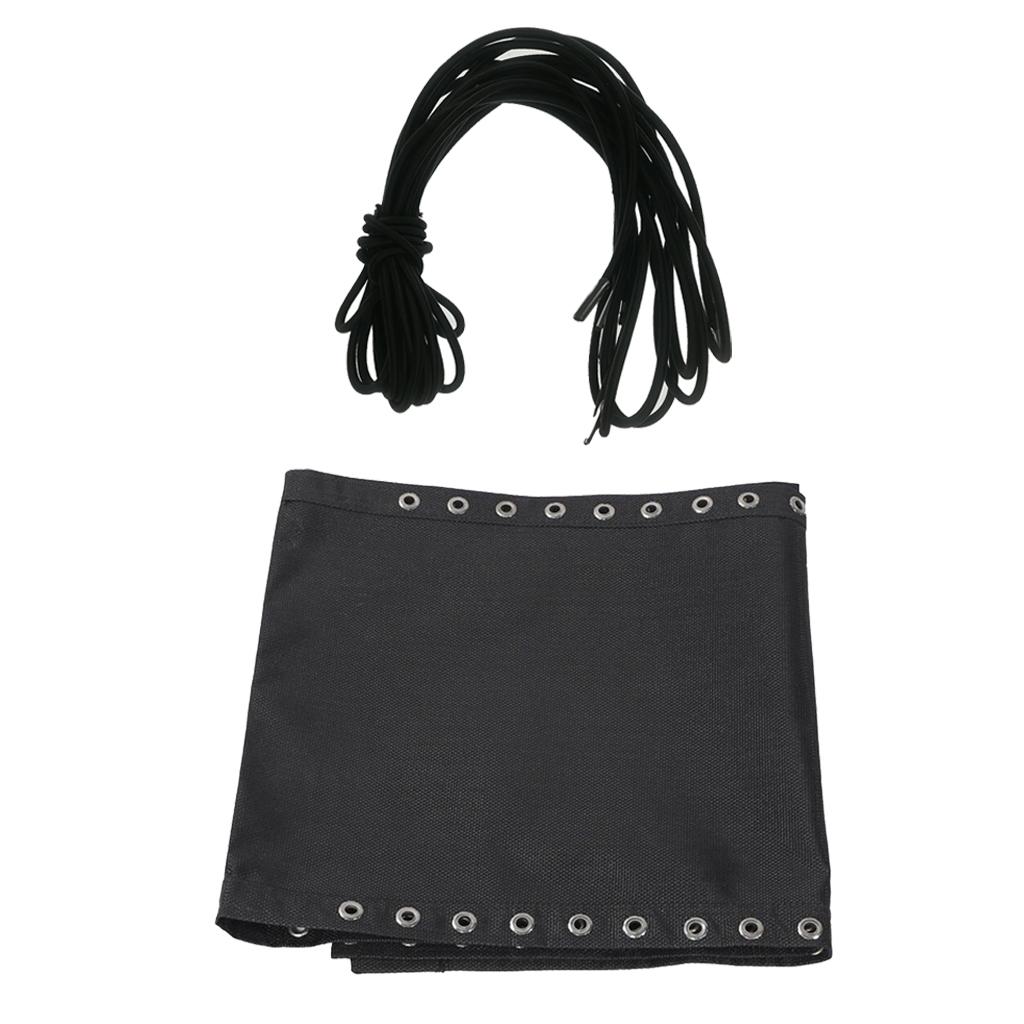 Recliner Tessforest Cloth Lace Fit Folding Lounge Patio Chair 160x43cm Black