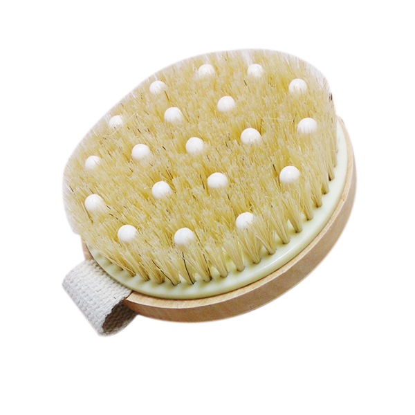 2016 New Arrival Bath Shower Bristle Brushes with Band Wooden Shower Body Bath Brush Massage Body Brush(China (Mainland))