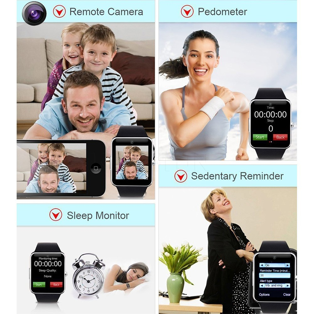 New Arrival Smart Watch GT08 2016 Clock Sync Notifier With Sim Card Bluetooth Wrist Smartwatch Support Android/IOS For iPhone