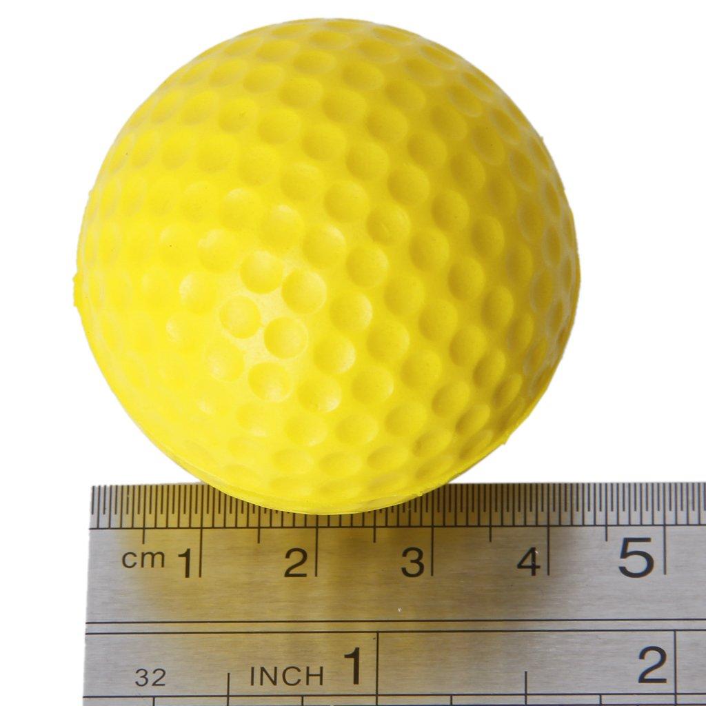 2016 Hot 10pcs Yellow Soft Elastic Indoor Practice PU Golf Ball(China (Mainland))