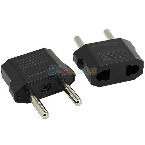 US to EU AC Power Plug Convertor Adapter Univesal Home Travel Use Socket Converter Electrical Plugs & Sockets 1J5D(China (Mainland))