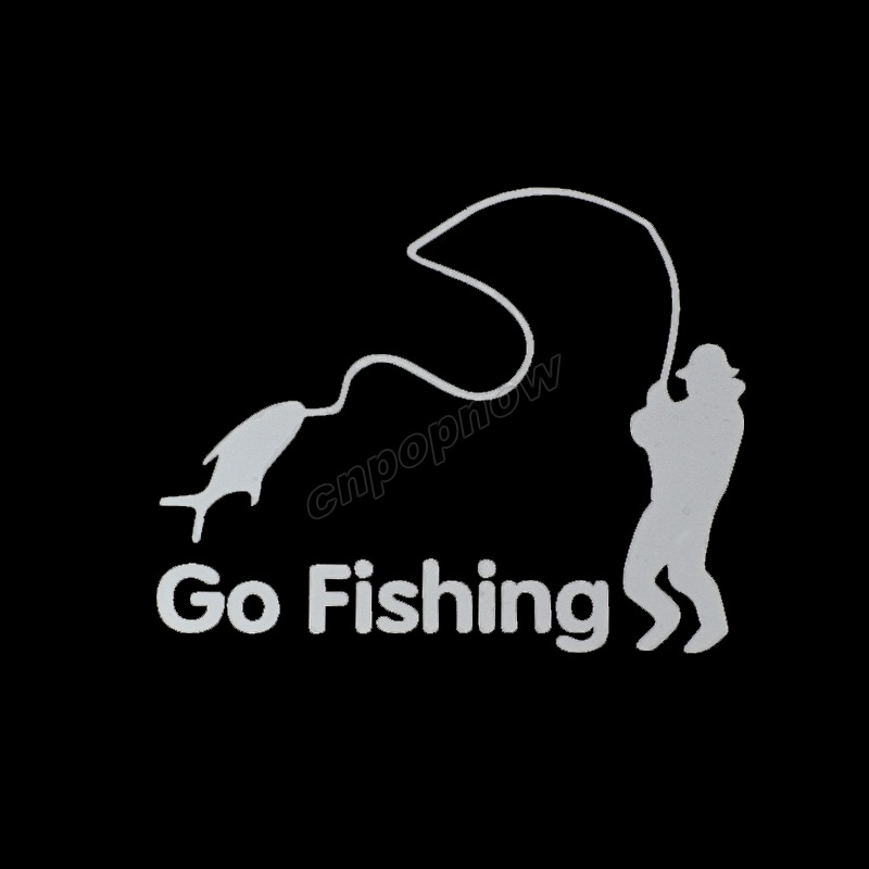 14x11cm Go Fishing Logo Cool Symbol Emblem Mark Car Truck Rear Side Decals Graphic Stickers Covers Wrap #6059#(China (Mainland))